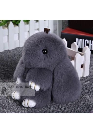 Меховой брелок Кролик маленький