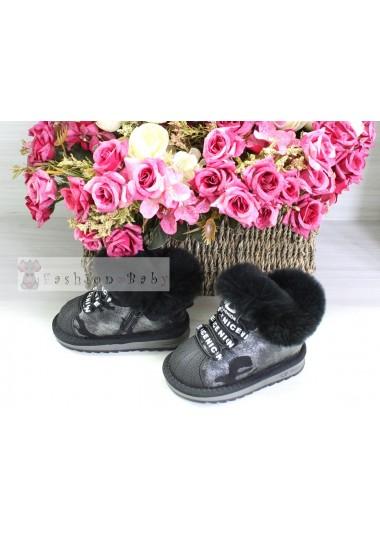 Угги черные Fashion