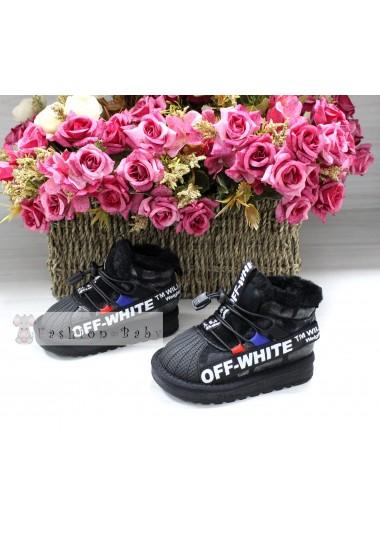 Угги черные Off-White